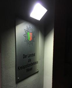 Um 21.15 Uhr beginnt die Nachtschicht in der Polizeiwache in Xanten.