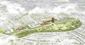 So könnte das Gelände des ehemaligen Bergwerks West im Jahre 2020 aussehen.